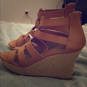 Brash detail wedge heels